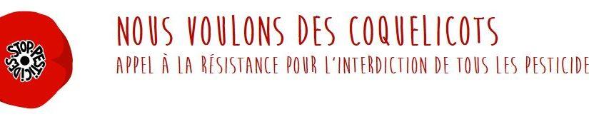 Nous voulons des coquelicots/Stop aux pesticides – La Roche – Vendredi 5 Octobre à 18h30